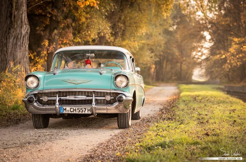 Chevrolet Bel Air 1957   Oldtimerfotografie München