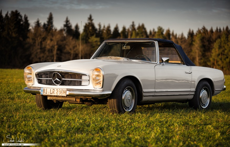 Mercedes 280 SL Pagode Fotoshooting Herbst | Oldtimerfotografie München