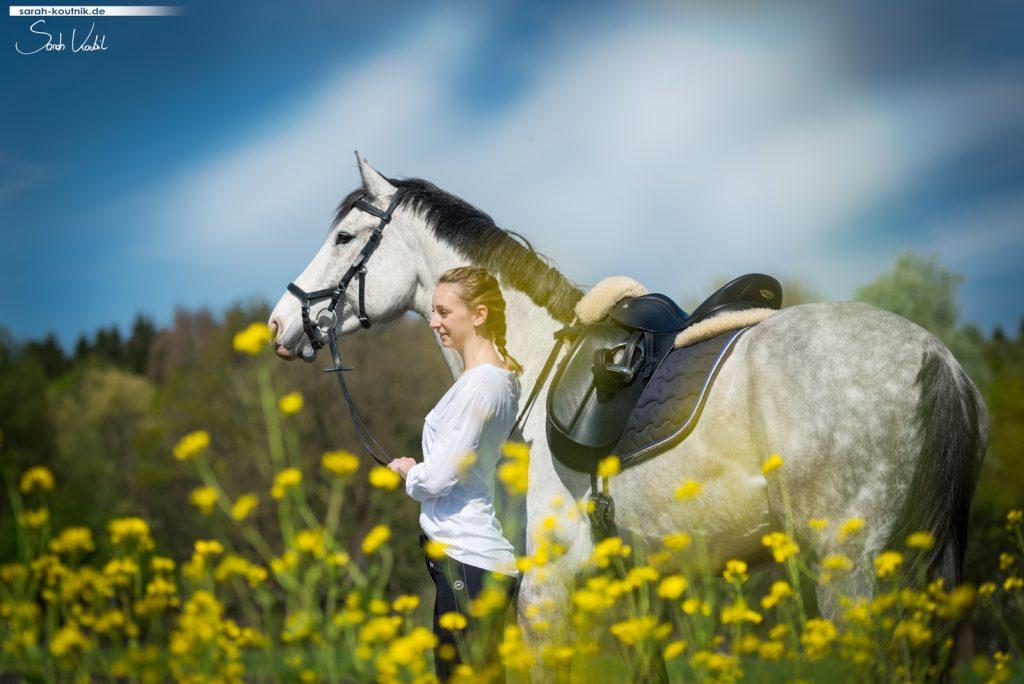 Pferdefotografie München | Sarah Koutnik Fotografie | Pferdefotoshooting im Frühling | Stimmung