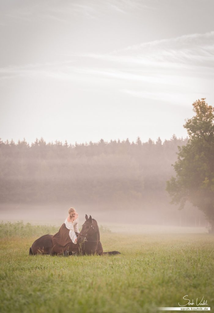 Pferdefotoshooting bei Sonnenaufgang | Pferdefotografie München