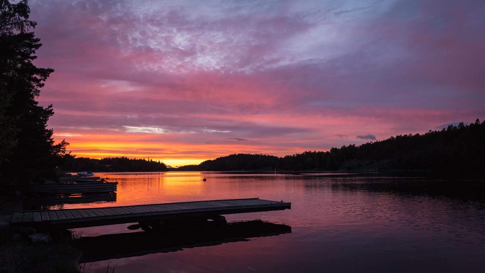 Jahresrückblick 2017 - Sonnenaufgang in Schweden